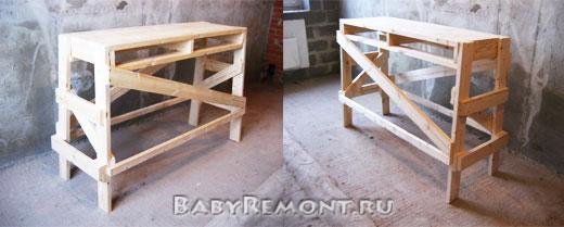 Как сделать строительные деревянные подмости (козлы) своими руками