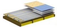 Модульный тип деревянной системы монтажа тёплого водяного пола