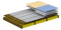 Реечный тип деревянной системы монтажа тёплого водяного пола