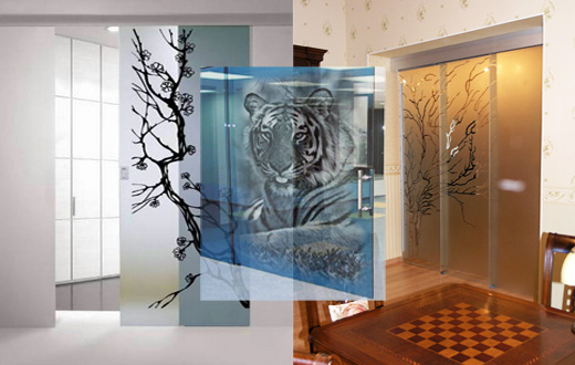 Цельностеклянные перегородки, стеклянные перегородки, алюминиевый профиль