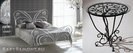 Кованая мебель как украшение домашнего интерьера - Стили и способ изготовления кованных изделий