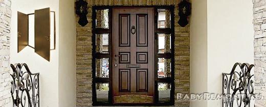 Виды отделки входных металлических дверей