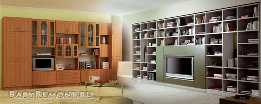 Современная мебельная стенка (секция) - Её конфигурации и преимущества