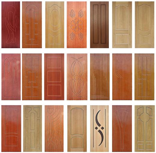 Отделка дверей плитами МДФ