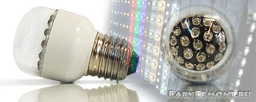 Виды светодиодных ламп и их назначение
