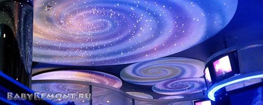 Натяжные потолки «звёздное небо» и их применение