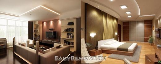 Правила разработки дизайна интерьера двухкомнатной квартиры