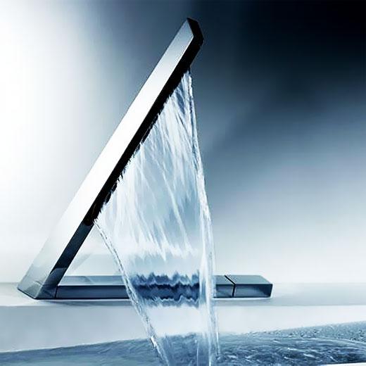Дизайнерский смеситель на ванную