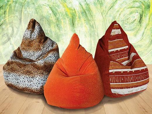 Мягкие пуфы, пуф-груши для детской комнаты