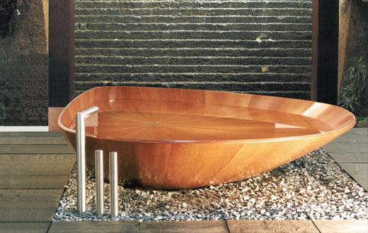 Деревянная ванна для ванной комнаты