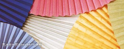 Оформление окон тканевыми жалюзи и шторами-плиссе