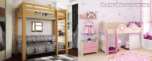 Кровати-чердаки для детской