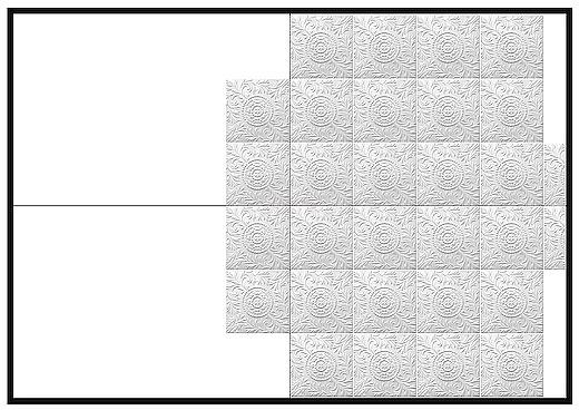 Прямая укладка потолочной плитки