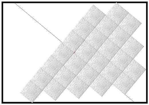 Диагональная укладка потолочной плитки