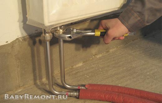 Как снять батарею отопления - Демонтаж радиаторной батареи своими руками