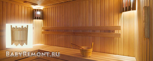 Светильники для бани, светильники в баню, электропроводки в бани