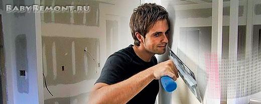 Как правильно зашпаклевать гипсокартон на потолке и стенах
