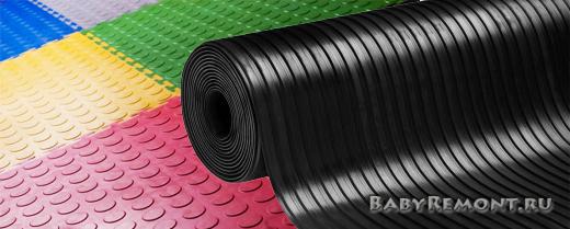 Особенности монтажа напольного резинового покрытия