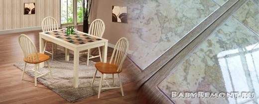 Достоинства столов с керамической плиткой