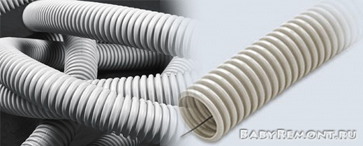 Особенности и положительные качества гофрированных труб ПВХ