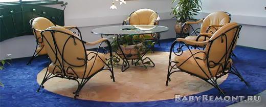 Какие плюсы и минусы кованной мебели