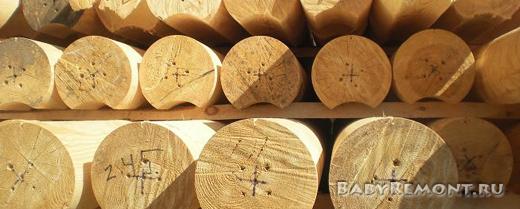 Преимущества оцилиндрованного бревна для строительства дома