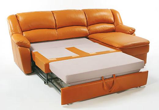 Выкатной угловой диван для спальни