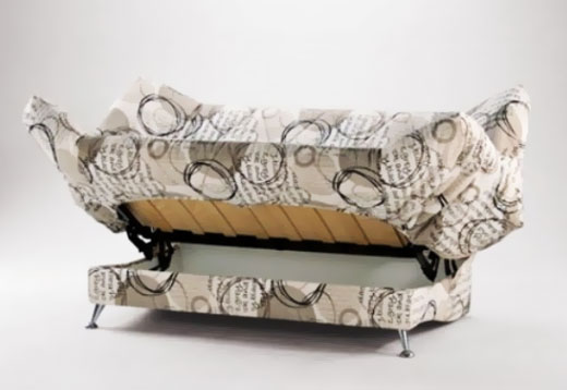 Диван-книжка для спальни с механизмом клик-клак