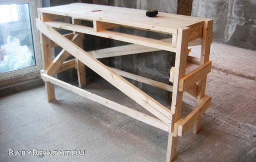 Как сделать строительные деревянные подмости (козлы) своими руками за 100 минут